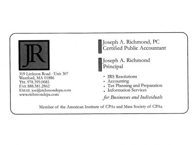 RICHMOND Joseph A CPA PC