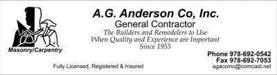 A G ANDERSON COMPANY INC