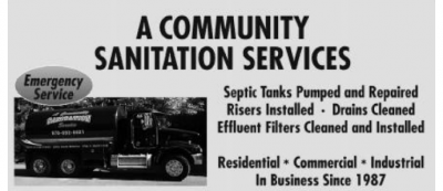 A COMMUNITY SANITATION SERVICES INC.