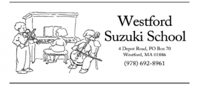 WESTFORD SUZUKI SCHOOL Piano, Violin, Cello & Guitar